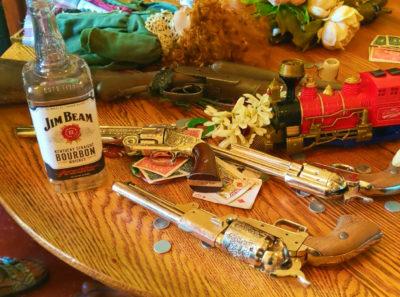 Gun Props at Old West Photo Shoot Virginia City MT 1