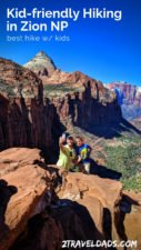 The best kid friendly hiking in Zion National Park ranges from paved trails to epic views. Top recommendations and hiking tips for Zion.