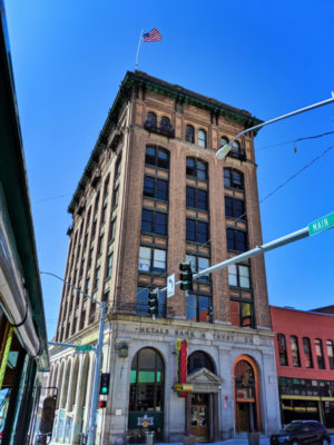 Historic Building Metals Bank downtown Butte Montana 1