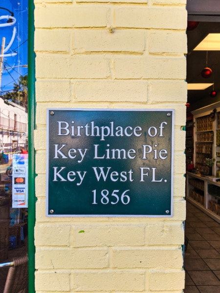 Historic Marker at Exterior of The Original Key Lime Pie Bakery in Key West Florida Keys 2020 1