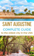 Saint Augustine, Florida is the oldest city in the USA and is amazing for food, photography and having a fun Florida vacation. Beaches, history and alligators make it a perfect destination for a road trip around Florida. #Florida #roadtrip #familytravel