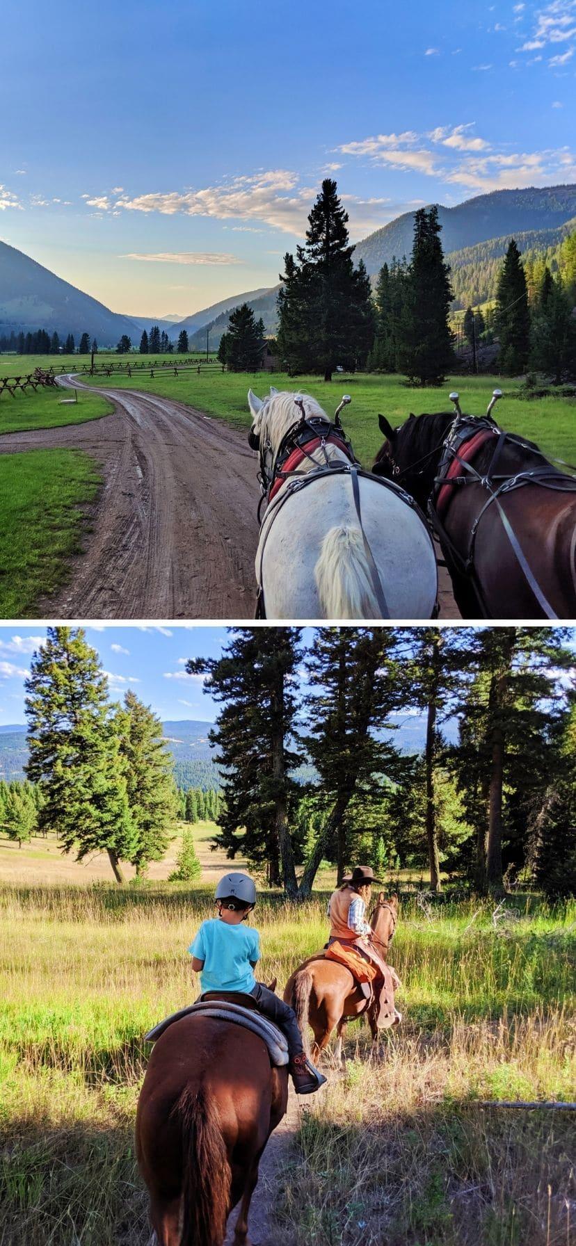 Horseback Riding and Hay Ride at Big Sky Montana