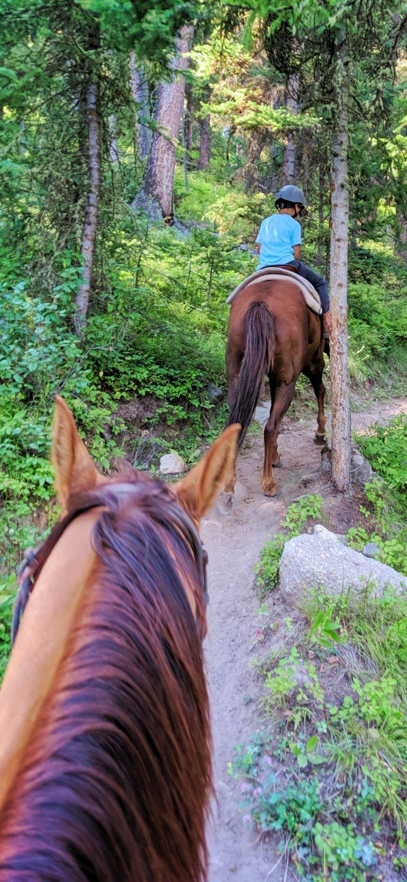 Horseback Riding at Lone Mountain Ranch Big Sky Montana