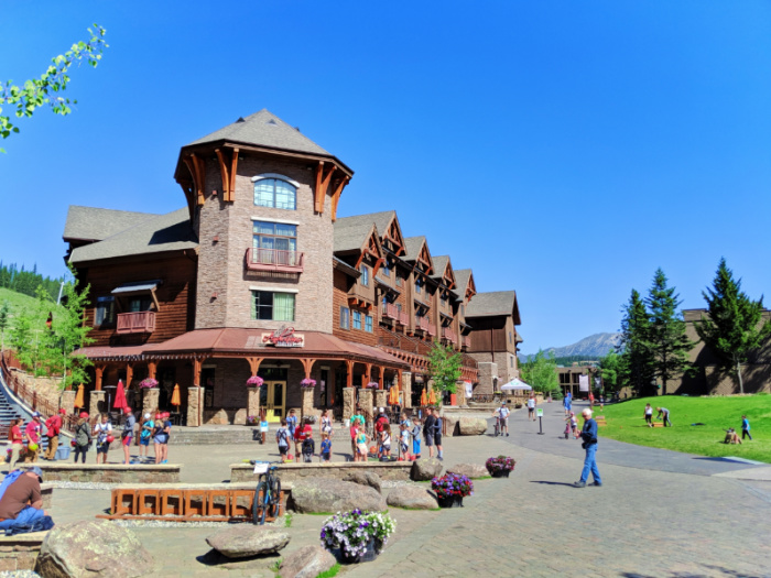 Hotel Condos in front of Lone Mountain Big Sky Resort Montana 2