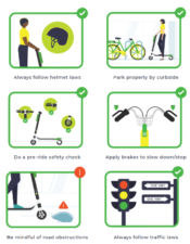 How To Lime Safely Dock Free Scooter And Bike Safety Information