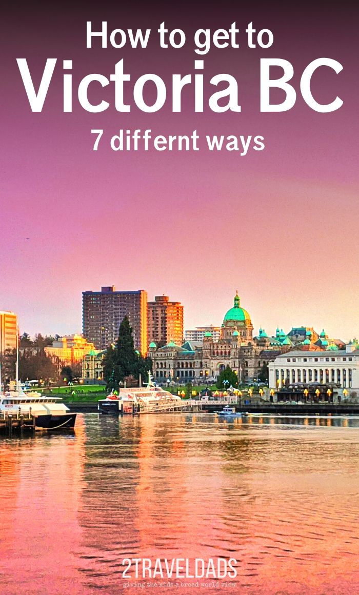 Answers for how to get to Victoria BC, because there are seven different ways to get to Vancouver Island. Podcast episode breaks down the travel options to visit Victoria.