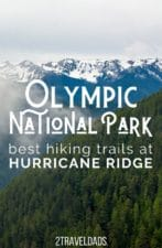 Hiking Hurricane Ridge: one of the best day trips to the Olympic Peninsula. Trails rated from easiest to most difficult, awesome Olympic NP views and nature. Tips for visiting Hurricane Ridge any time of year.
