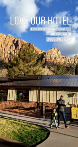 BW Plus Zion Canyon IG Story