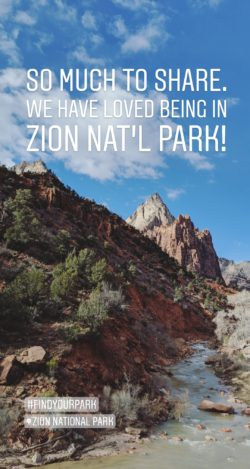 Taylor Family Zion National Park Instagram Story