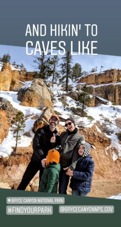Taylor Family Bryce Canyon National Park Instagram Story