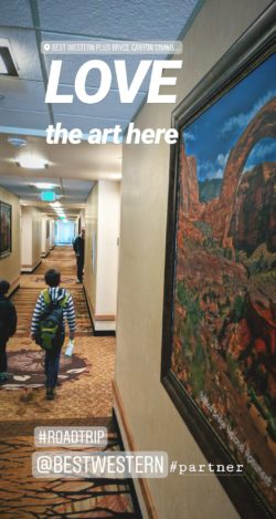 Taylor Family Best Western Bryce Canyon Grand Hotel Instagram Story