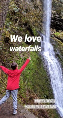 Silver Falls State Park Instagram story