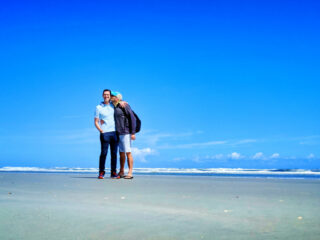 Chris and Rob Taylor at Butler Beach Florida 2020