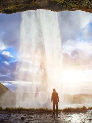 Iceland Waterfall Affording Travel