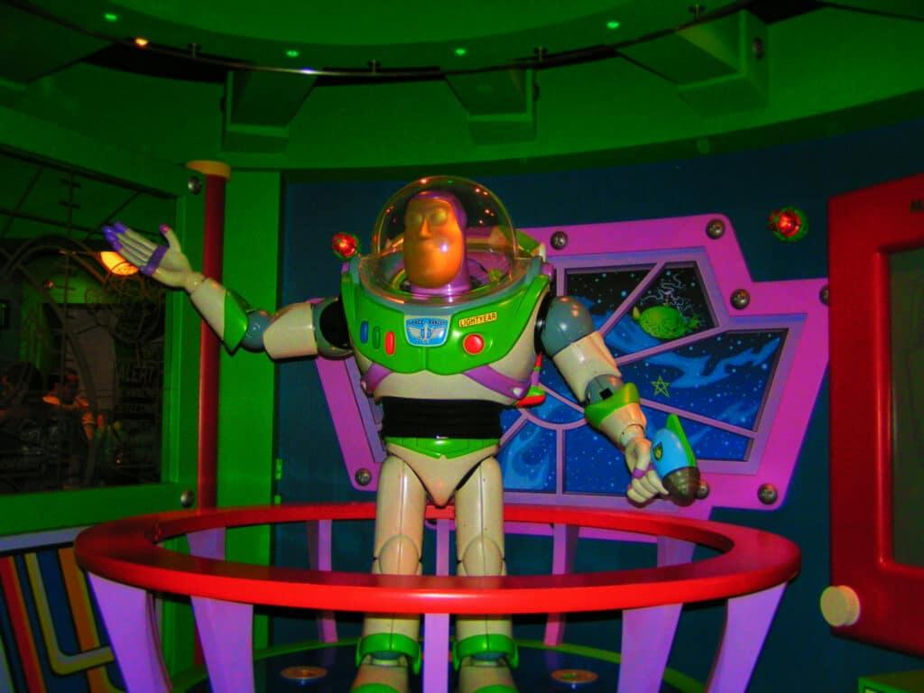 Buzz Lightyear in Astro Blasters Tomorrowland Disneyland