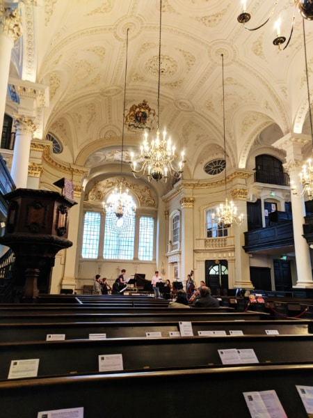 Inside St Martin in the Fields London UK 2