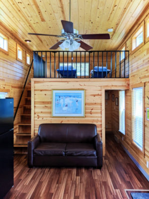 Interior at Deluxe Family Cabin at Astoria KOA Campground Warrenton Oregon 1