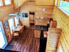 Interior at Deluxe Family Cabin at Astoria KOA Campground Warrenton Oregon 4
