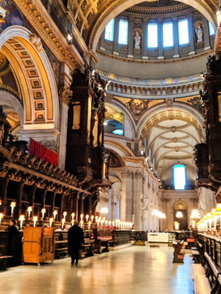 Interior of St Pauls Cathedral London 2