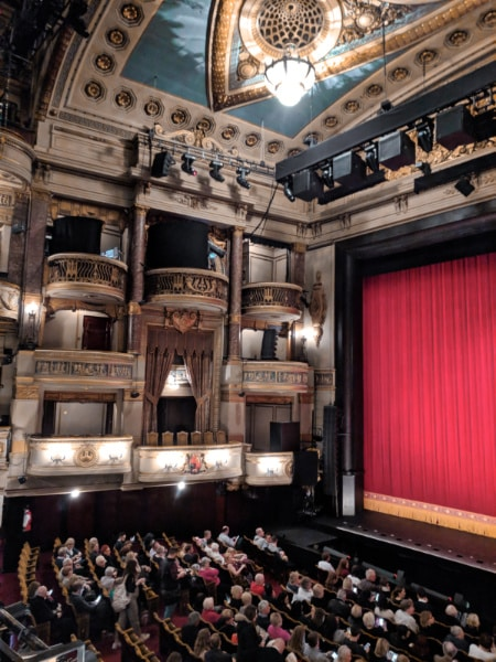 Interior of Theatre Royal Drury Lane Covent Garden London 1