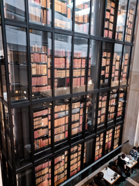 Interior of the British Library North London 1