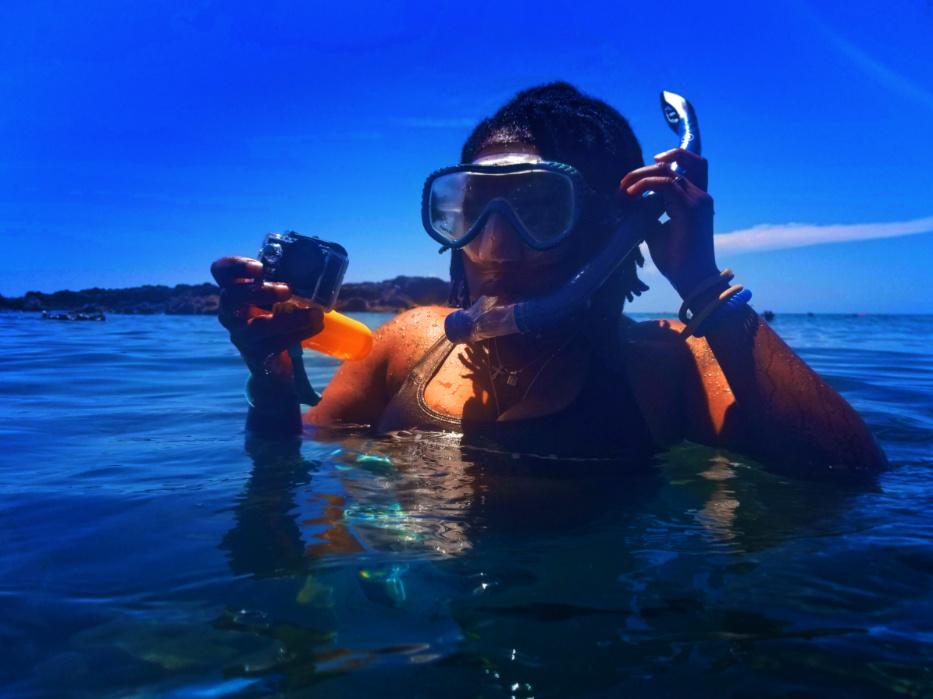 ItzAFamilyThing snorkeling at Kuilima Cove North Shore Oahu Hawaii 1