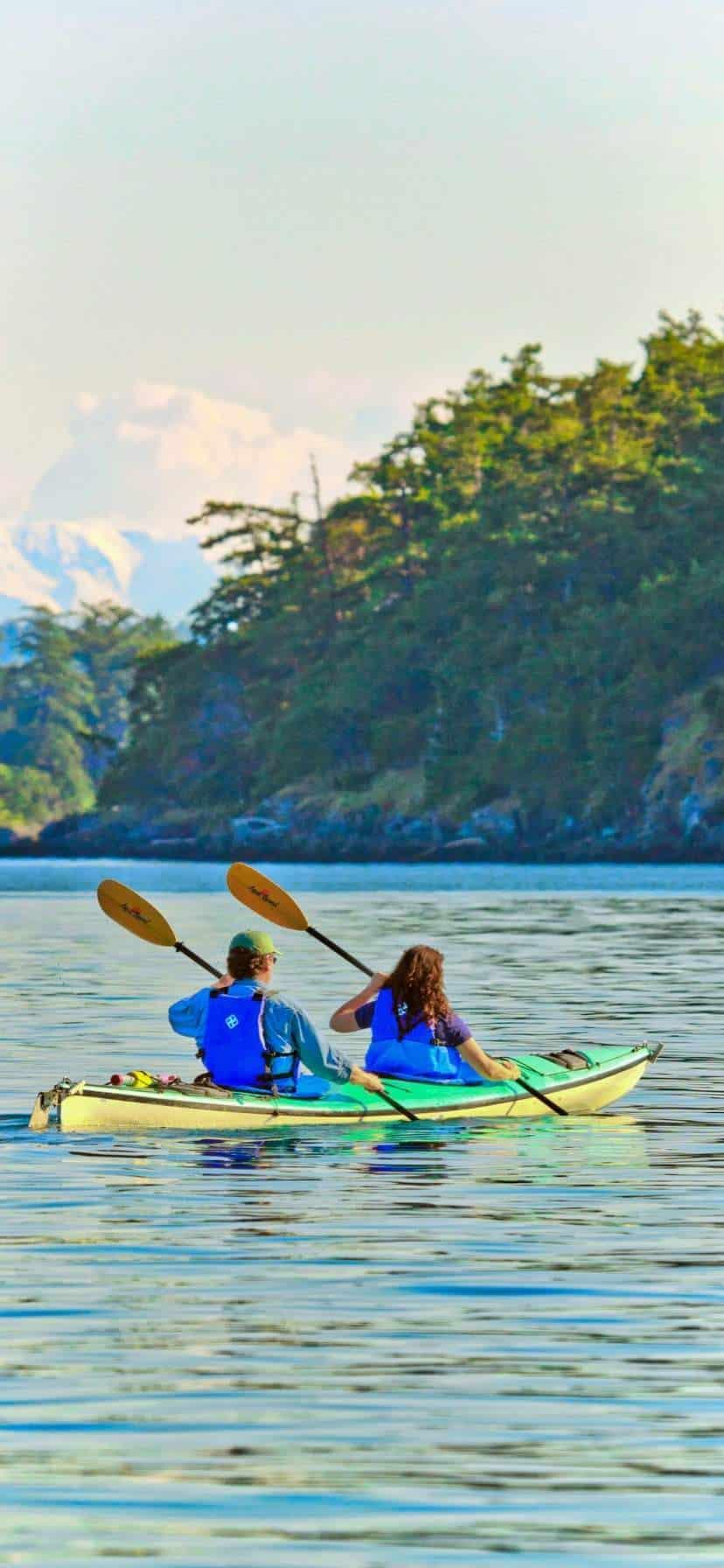 Kayakers at Lopez Island Kayaking in the San Juans
