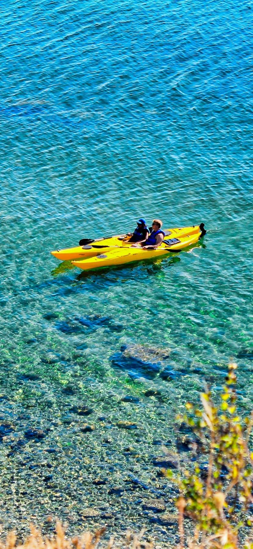 Kayakers at Orcas Island Kayaking in the San Juans