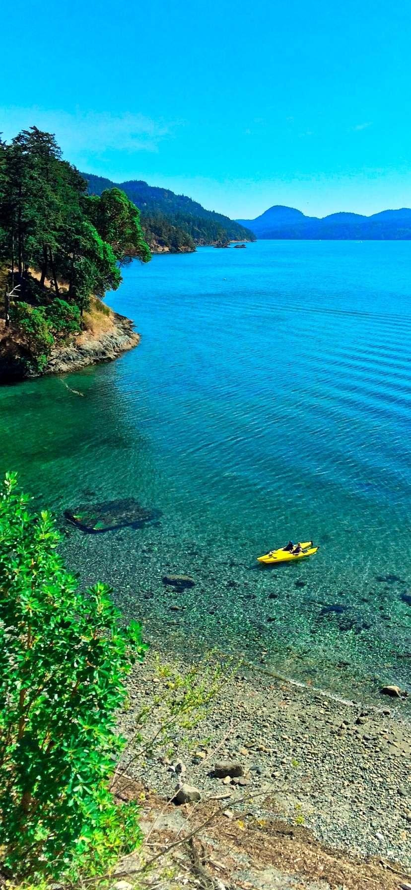 Kayakers on Ships Bay Orcas Island Kayaking in the San Juans