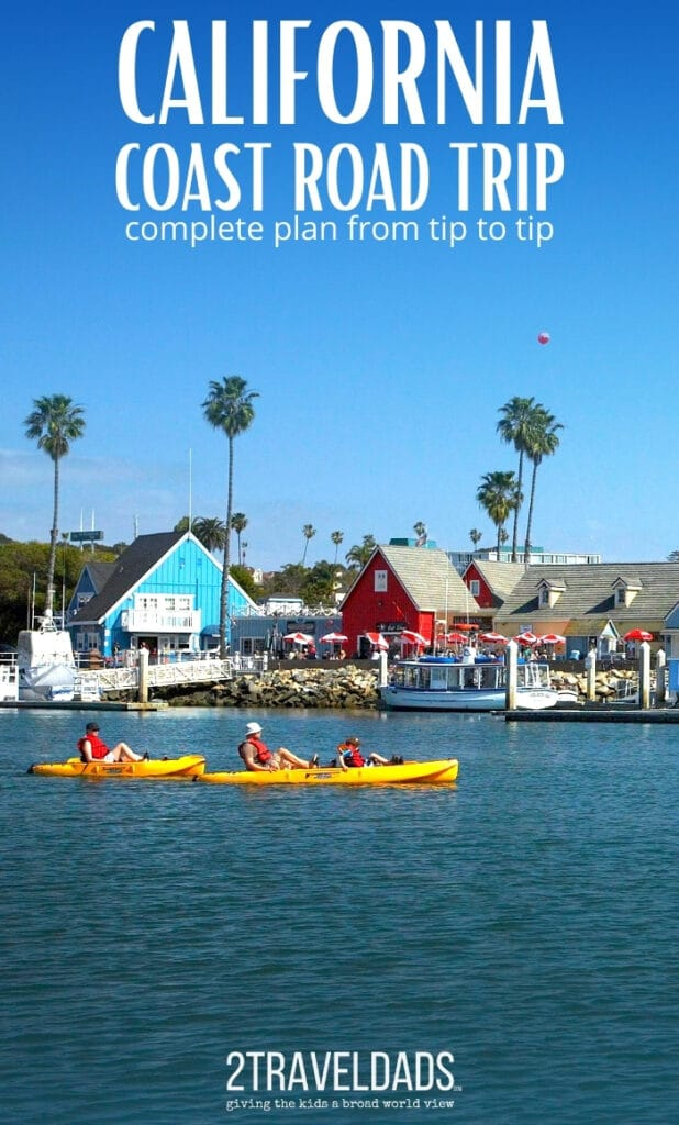 Kayaking in Oceanside Harbor is a nice break from the busy California vacation. Complete plan for a California coast road trip. #kayaking #California
