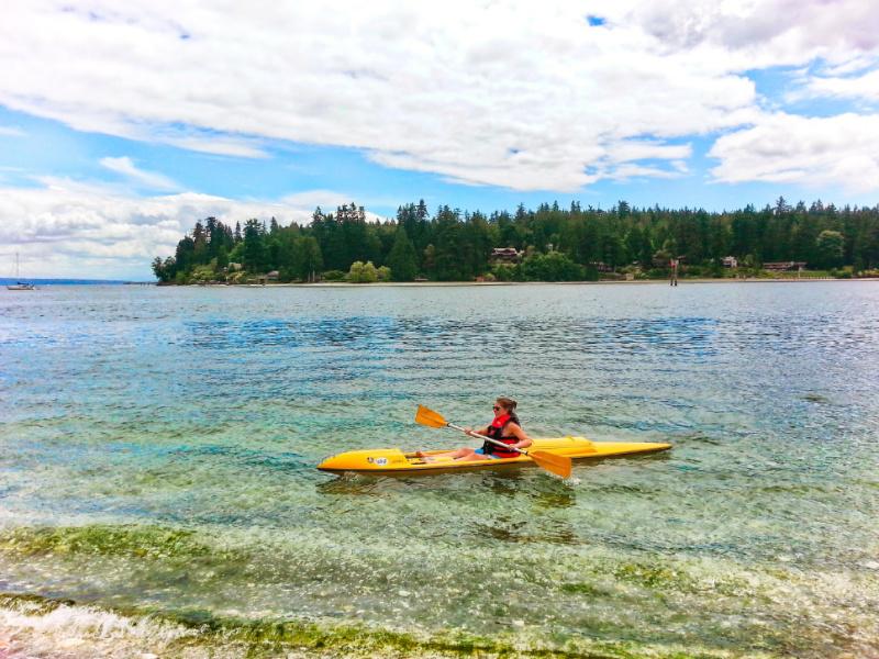 Kayaking on Agate Passage Suquamish Washington 1