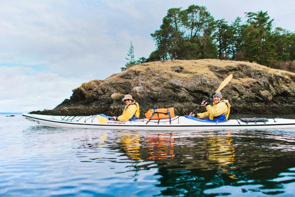 Kayaking to Stuart Island San Juan Island, Washington by Dana Halferty