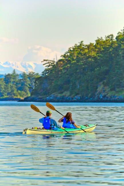 Kayaking at Lopez Island San Juan Islands Washington
