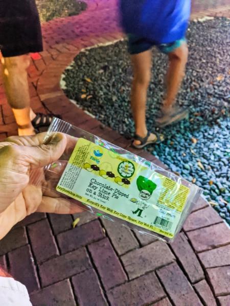 Key Lime Pie on a Stick from Kermits Key Lime Pie Shop Key West Florida Keys 2020 2