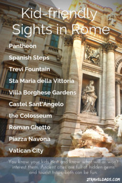 Packing list for Rome with Kids
