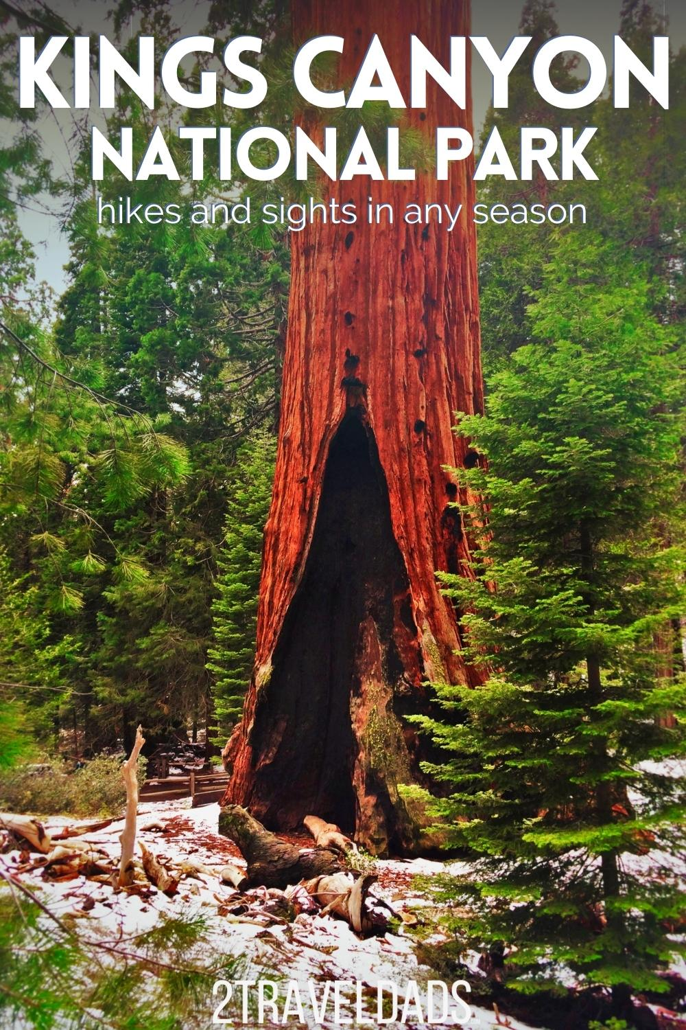 Kings Canyon National Park is beautiful and full of epic trees and view. Visiting Kings Canyon in any season is fun and interesting, but beware of snowy days. Tips and tricks for hiking at Kings Canyon and where to stay (National Park lodge!).