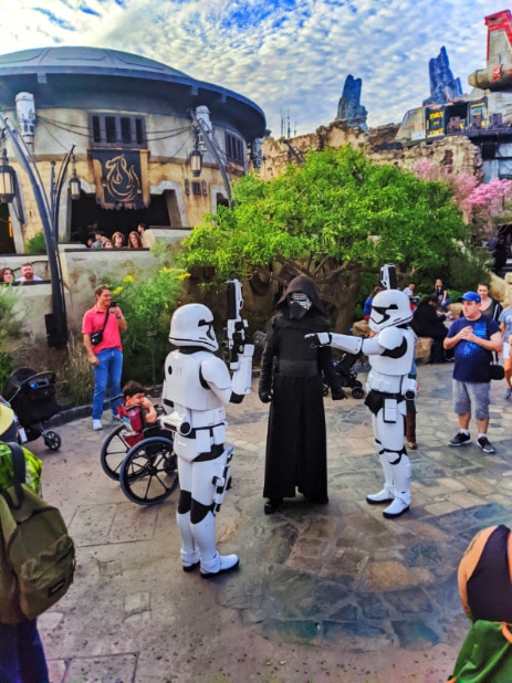 Kylo Ren and Storm Troopers in Galaxys Edge Star Wars Land Disneyland 2020 1