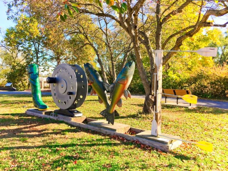 LOVE Works art Sculpture Waynesboro Virginia in Fall Shenandoah Valley 1