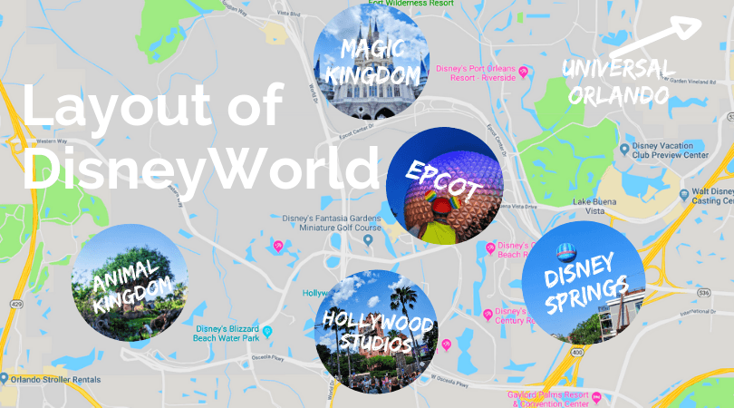 Layout of Disney World map