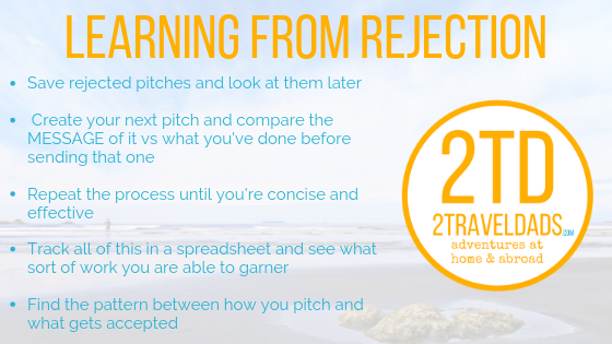 improving on how to pitch and learning from rejection.