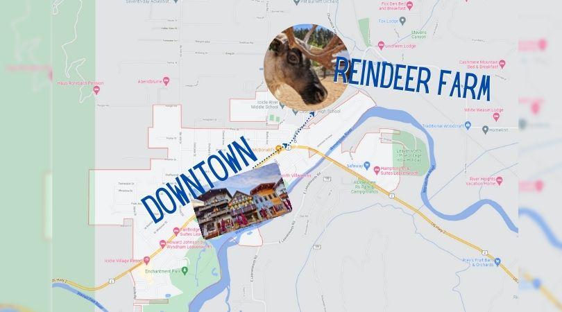 Map to Leavenworth Reindeer Farm