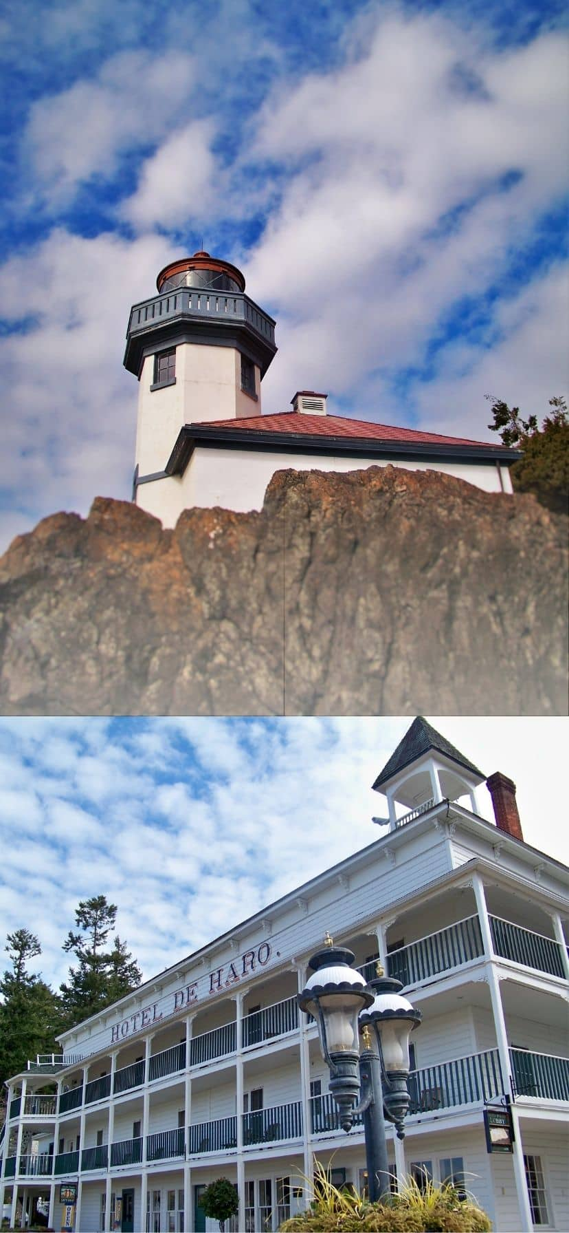 Lime Kiln Lighthouse and Hotel De Haro Roche Harbor Island Kayaking in the San Juans