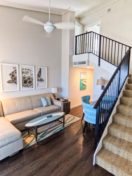 Living Room in Loft Suite at the Laureate Hotel Key West Florida Keys 2020 1