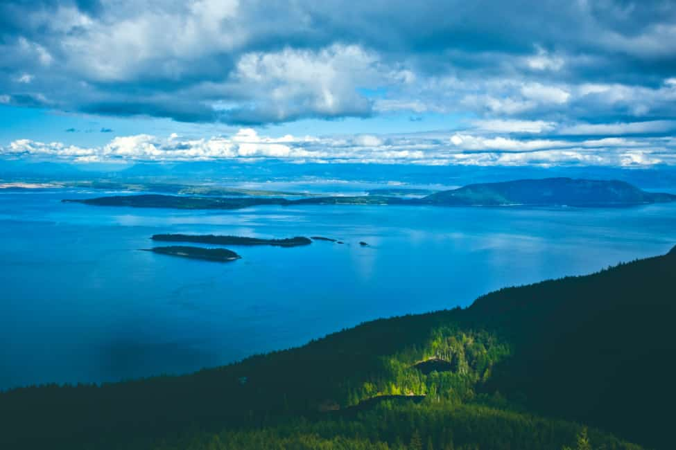 Looking out from Constitution Mountain, Orcas Island San Juans by Kyungbum Kim