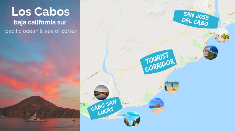 Los Cabos Mexican Vacation destinations map