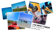 Low Impact Tourism is easy to practice with a little thought and planning. Tips for lowering your carbon footprint in travel and making smart, conscious choices in favor of conservation in tourism.