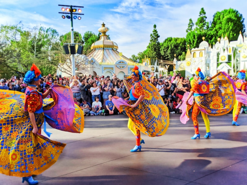 Magic Happens Parade in front of Small World Disneyland 2020 3