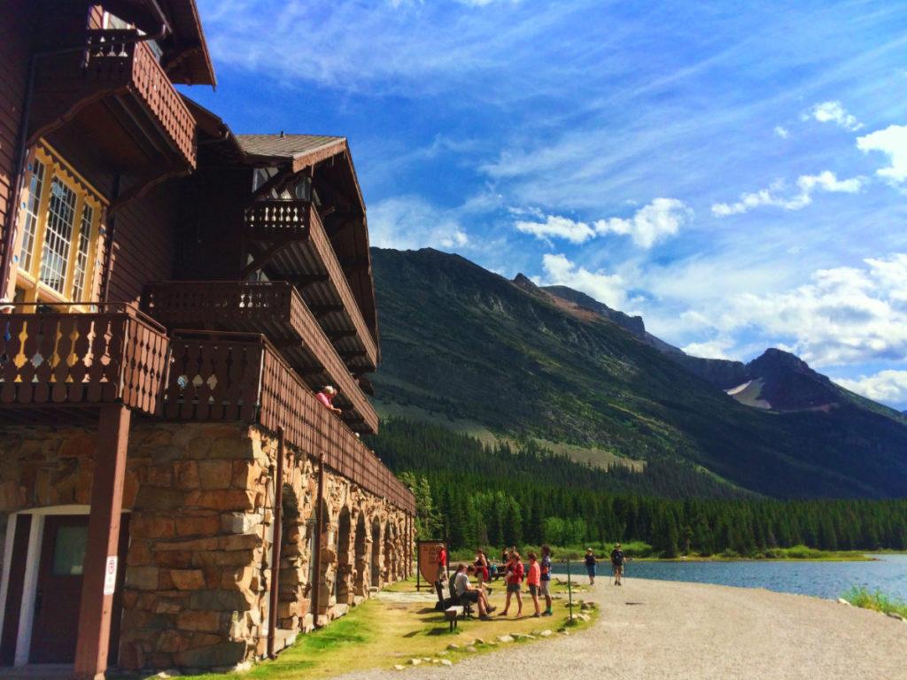 Many Glacier Hotel and Swiftcurrent Lake Glacier National Park 3
