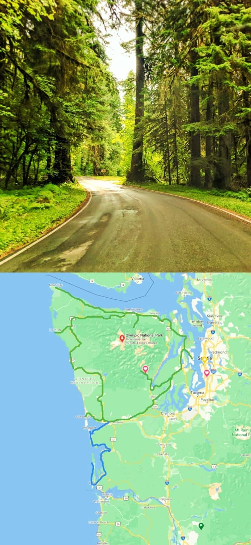 Map of Olympic Peninsula Things to Do