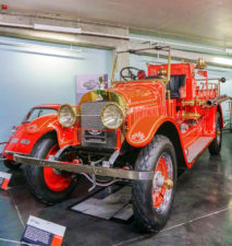 Marcie in Mommyland Classic-fire-engine-at-LeMay-Americas-Car-Museum